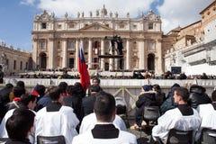 Le pape Francis Inauguration Mass image stock