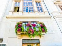 Rome, Italie - 10 septembre 2015 : La façade de la maison historique chez Piazza Navona à Rome, Italie Photo libre de droits