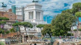 Rome, Italie - timelapse antique de Roman Forum, site de patrimoine mondial de l'UNESCO banque de vidéos