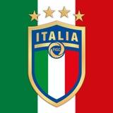 ROME ITALIEN, ÅR 2017 - italiensk fotbollfederation FIGC för ny logo på italiensk flagga