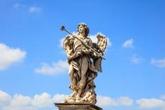 Rome Italien - Angel Statue, helgon Angel Bridge Royaltyfri Fotografi