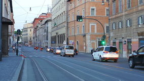 ROME - ITALIEN, AUGUSTI 2015: dagligt livsikt stock video