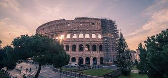 Rome Italien: Colosseum Flavian Amphitheatre Royaltyfria Foton