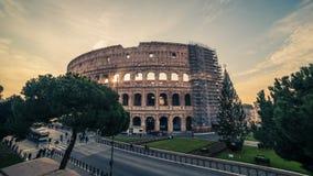 Rome Italien: Colosseum Flavian Amphitheatre Royaltyfria Bilder