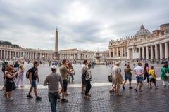 Rome Italien - 23 06 2018: Domkyrka för St Peter ` s på St Peter ` s s Royaltyfri Foto