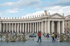 Rome Italien - 23 06 2018: Domkyrka för St Peter ` s på St Peter ` s s Royaltyfria Foton