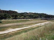 19 06 2017 Rome, Italien, Europa: Sikt av cirkusen Maximus och Pala Arkivbilder