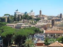 19 06 2017 Rome, Italien, Europa: Stor cityscape som ses från Avent Royaltyfria Bilder