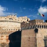 Rome Italien, flagga arkivfoto