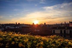 Rome Italien - flyg- sikt Arkivbilder