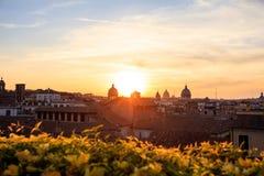 Rome Italien - flyg- sikt Royaltyfria Bilder