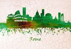 Rome Italien horisont stock illustrationer