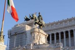 ROME ITALIEN - JANUARI 27, 2010: Altare della Patria Arkivfoton