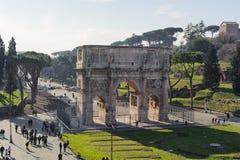 ROME ITALIEN - JANUARI 21, 2010: Båge av Constantine Fotografering för Bildbyråer