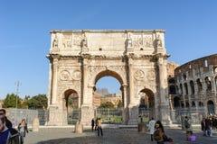 ROME ITALIEN - JANUARI 21, 2010: Båge av Constantine Royaltyfri Bild