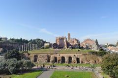 ROME ITALIEN - JANUARI 21, 2010: hel sikt av fororomanoen Royaltyfri Fotografi