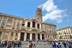 Rome ITALIEN - JUNI 01, 2016: Basilika Santa Maria Maggiore Arkivfoton