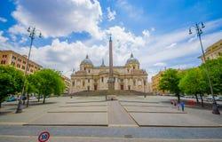 ROME ITALIEN - JUNI 13, 2015: Basilikadi Santa Maria Maggiore på Rome, en av härliga churchs som kan finna i Arkivfoton