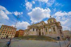 ROME ITALIEN - JUNI 13, 2015: Basilikadi Santa Maria Maggiore på Rome, en av härliga churchs som kan finna i Arkivbilder