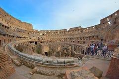 Rome ITALIEN - JUNI 01: Colosseum i Rome, Italien på Juni 01, 2016 Arkivfoto