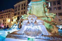 Rome ITALIEN - JUNI 01, 2016: Fontana del Panteon i Rome, Italien Royaltyfri Fotografi