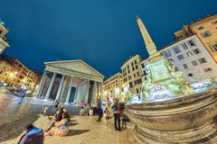 Rome ITALIEN - JUNI 01, 2016: Panteon i Rome, Italien Royaltyfri Fotografi