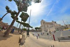 Rome ITALIEN - JUNI 01: Piazza Venezia och Victor Emmanuel II monument i Rome, Italien på Juni 01, 2016 Fotografering för Bildbyråer