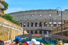Rome ITALIEN - JUNI 01: Rome Colosseum i Rome, Italien på Juni 01, 2016 Fotografering för Bildbyråer