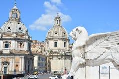 ROME ITALIEN - Juni 29, 2014: Sikt av piazza Venezi Arkivbilder