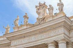 Rome ITALIEN - JUNI 01: Sts Peter fyrkant i Vaticanen, Rome, Italien på Juni 01, 2016 Arkivfoton