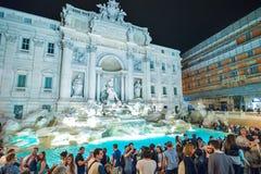 Rome ITALIEN - JUNI 01: Trevi-springbrunn i Rome, Italien på Juni 01, 2016 Arkivbilder