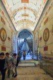 Rome ITALIEN - JUNI 01: Vatikanstaten museum i Rome, Italien på Juni 01, 2016 Royaltyfri Fotografi