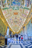 Rome ITALIEN - JUNI 01: Vatikanstaten museum i Rome, Italien på Juni 01, 2016 Arkivfoton