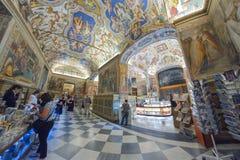 Rome ITALIEN - JUNI 01: Vatikanstaten museum i Rome, Italien på Juni 01, 2016 Arkivbild