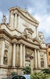 Rome Italien, kyrka av San Marcello al Corso arkivbilder