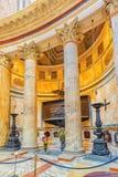 ROME ITALIEN - MAJ 09, 2017: Den inre inre av panteon, är Arkivfoto