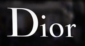 Rome Italien - Maj 13, 2018: Dior modelager i Rome Arkivfoto