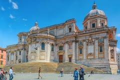 ROME ITALIEN - MAJ 08, 2017: Fyrkant av Santa Maria Maggiore Pi Royaltyfria Bilder