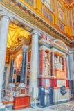 ROME ITALIEN - MAJ 08, 2017: Inom basilikan av Santa Maria Royaltyfria Bilder
