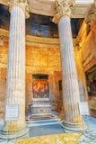 ROME ITALIEN - MAJ 09, 2017: Inre inre av panteon, I Fotografering för Bildbyråer