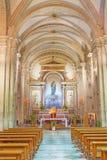 ROME ITALIEN - MARS 12, 2016: Den kyrkliga Chiesa di Patentlösning Signora delen Sacro Cuore Royaltyfri Fotografi