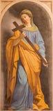 ROME ITALIEN - MARS 11, 2016: Den symboliska freskomålningen av tro som den huvudsakliga förtjänsten i kyrkliga basilikadi Santi  Arkivfoto