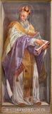 ROME ITALIEN - MARS 9, 2016: Freskomålningen av doktorn av kyrkaSten John Chrysostom i kyrkliga Chiesa di Santa Maria i Aquiro Royaltyfri Fotografi