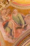 ROME ITALIEN - MARS 9, 2016: Freskomålningen av St Matthew evangelisten Arkivbilder