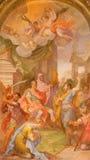 ROME ITALIEN - MARS 11, 2016: Målningen av martyrskapet av SS John och Paul Royaltyfria Foton
