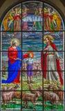 ROME ITALIEN - MARS 10, 2016: Platsen av drömmen od Don Bosco på åldern av nio & x28; 1825& x29; Royaltyfri Bild