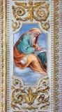 ROME ITALIEN - MARS 12, 2016: Profetfreskomålningen i sidokapell av vår dam av förskoning i den kyrkliga basilikaSan Giovanni dei Royaltyfria Bilder