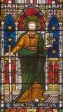 ROME ITALIEN - MARS 9 2016: St Paul aposteln på för helgon` för fönsterruta allra den anglikanska kyrkan vid arbetsrummet Clayton Royaltyfria Bilder