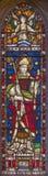 ROME ITALIEN - MARS 9 2016: Stet Augustine på för helgon` för målat glass allra den anglikanska kyrkan Fotografering för Bildbyråer
