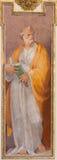 ROME ITALIEN - MARS 12, 2016: Stet Peter apostelfreskomålningen i den kyrkliga basilikaSan Giovanni deien Fiorentini av Nicolo Ci Arkivbild